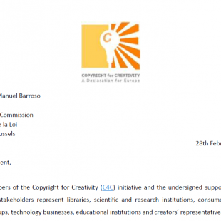 Letter to European Commissioners – Feb 2013