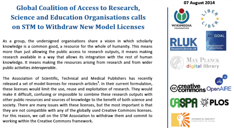 Licensing Abuses Strike Again: A Broad Range of Organisations Calls for Withdrawal of STM's Model Licences